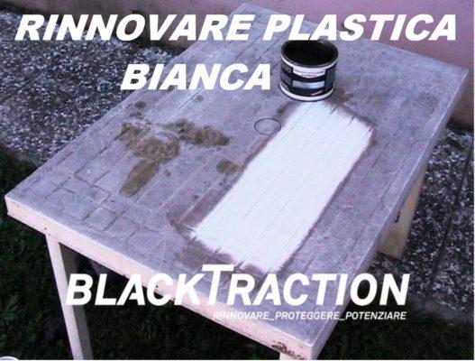 RINNOVARE PULIRE PLASTICA BIANCA MACCHIATA